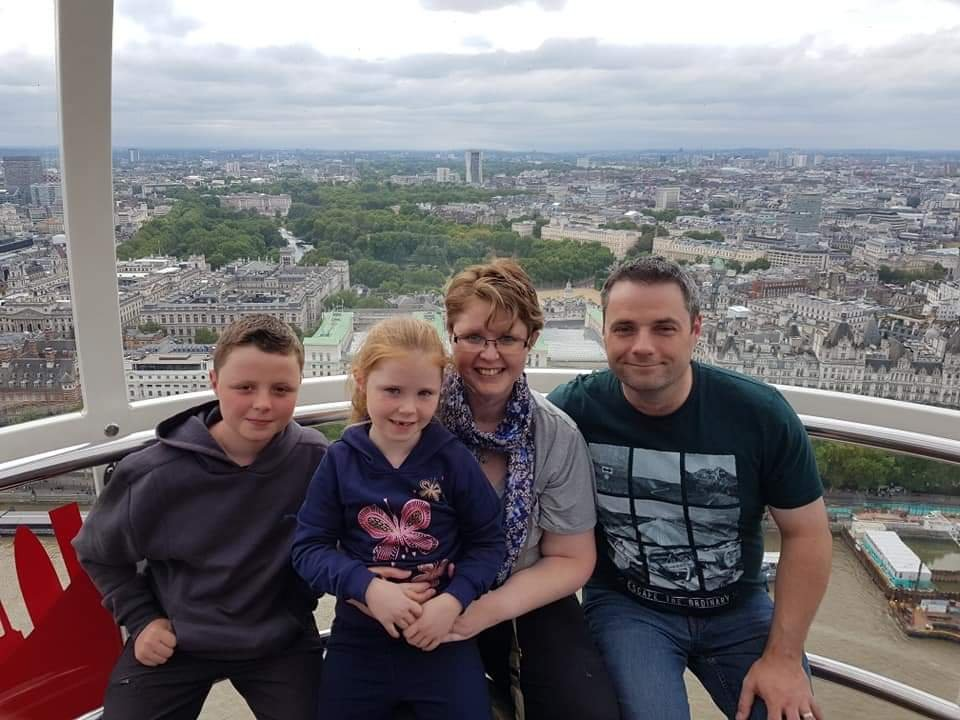My family and I on the London Eye.
